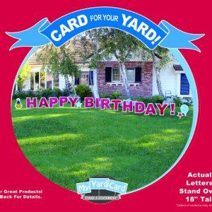 My Yard Card HAPPY BIRTHDAY Sign