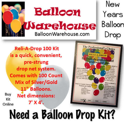 Diy New Years Balloon Drop: New Years 7ft X 4ft Reli-A-Drop 100 Balloon Drop Kit