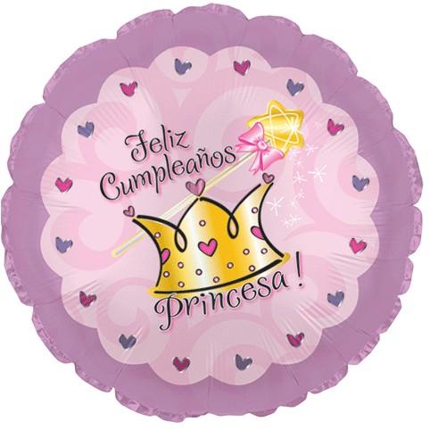 18 Feliz Cumpleaños Princesa Birthday Foil Balloon Balloon