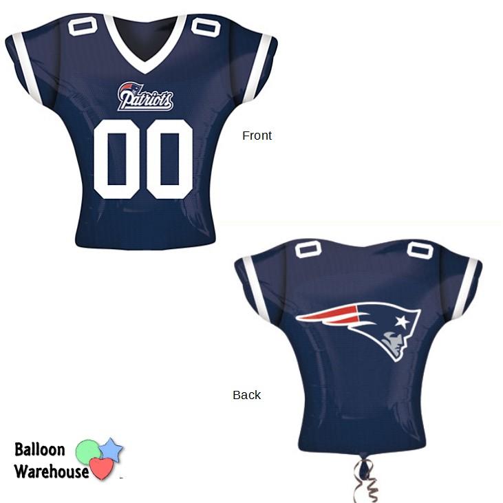 3e55fda8592 24″ NFL New England Patriots – Jumbo Jersey Shape – Foil Balloon
