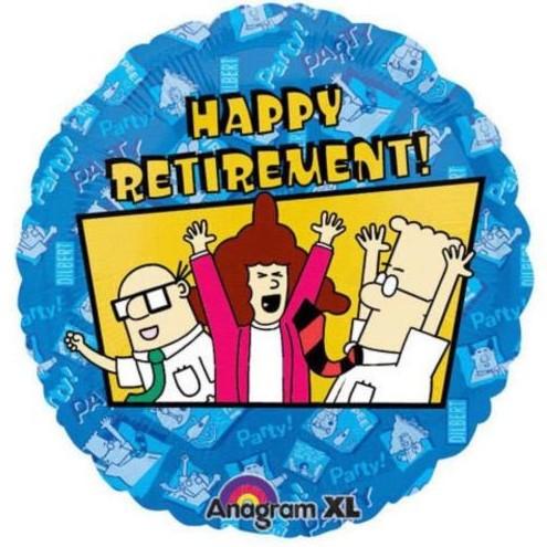 "Happy Retirement Blue Square 18/"" Foil Balloon"