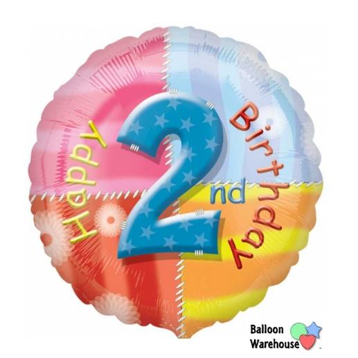 18 2nd Birthday Happy Foil Balloon