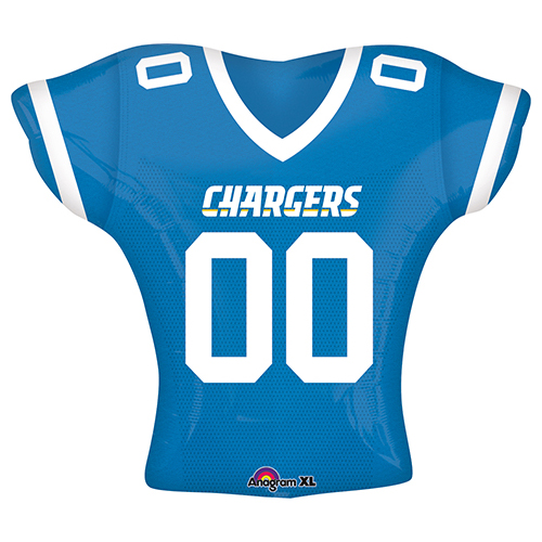 f436e18c343 24″ NFL Los Angeles Chargers – Jumbo Jersey Shape – Foil Balloon
