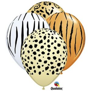 11 Safari Jungle Latex Balloons 5 Bag