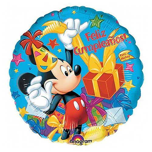18 Disney Mickey Mouse Feliz Cumpleanos Birthday Foil Mylar