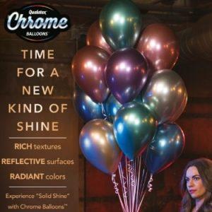 """11"""" Qualatex Chrome Balloons"""