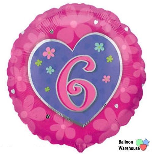 18 6th birthday pink flowers hearts foil balloon balloon 18 6th birthday pink flowers hearts foil balloon mightylinksfo