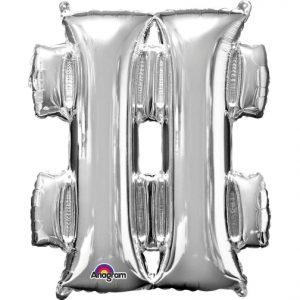 Super Shape Silver # Hastag Number Sign