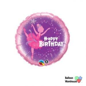 Ballet Dance Birthday Girl Ballerina