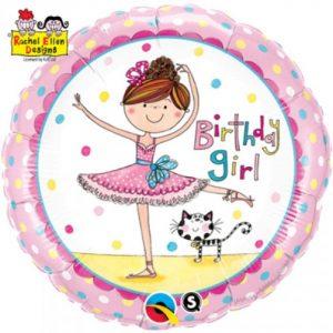 "18"" Rachel Ellen – Birthday Ballerina Licensed Balloon"