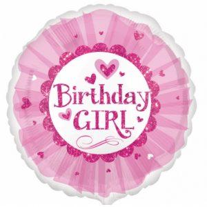 Birthday Girl Pink Sparkle Tutu Standard HX Foil Balloon