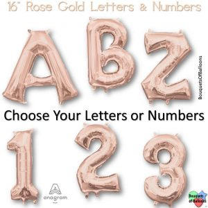16 Inch Rose Gold Letter or Number Balloons