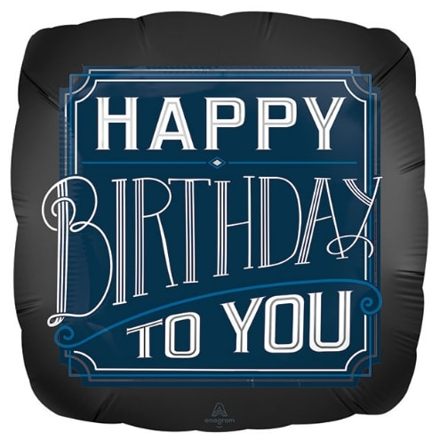 Happy Birthday Dad Blue Holographic 18 Inch Foil Balloon