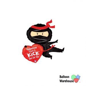 "38"" Valentine's Day - Ninja Shape - Foil Balloon"