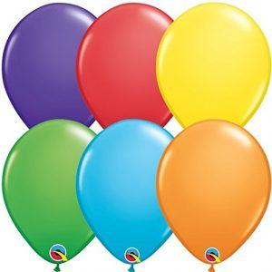 Qualatex Bright Rainbow Assortment Latex Balloons