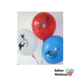 KARATE Latex Balloons