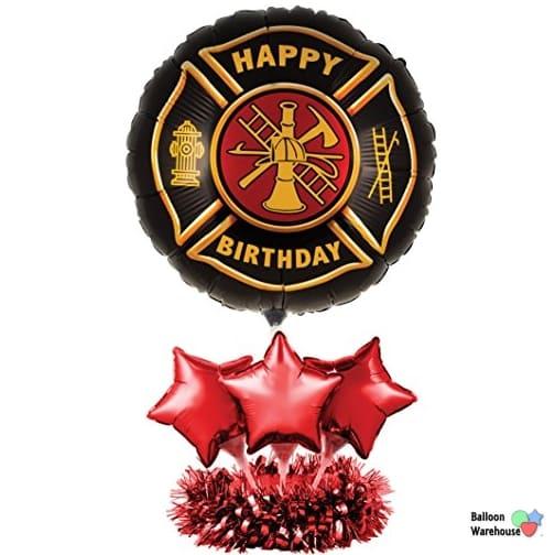 Firefighter Birthday Balloon Centerpiece Kit DIY Air Fill