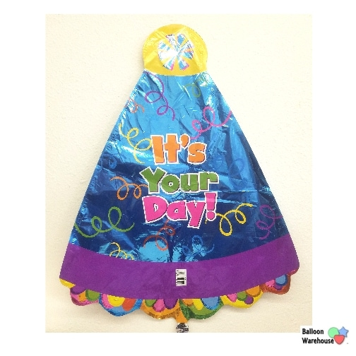 18 Birthday Party Hat Jr Shape Foil Balloon