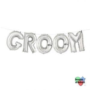 GROOM Silver Letter Kit