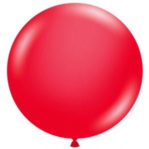 "17"" Tuftex Red Latex Balloon"