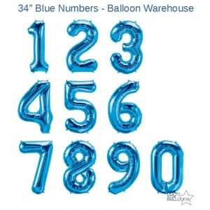 34 Inch Blue Number Balloons - NorthStar Brand