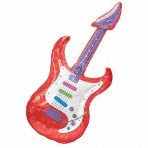 "42/"" FOIL BALLOON! ROCK STAR GUITAR SHAPED LARGE SUPERSHAPE BALLOON"