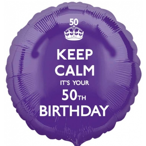 HX Keep Calm 50th Birthday