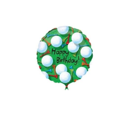 18 Golf Happy Birthday Foil Balloon