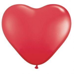 "11"" Qualatex Heart Latex - Red"