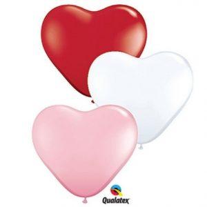 "11"" Qualatex Heart Latex Sweetheart Assorted"