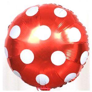 Red Big Polka Dots Balloon