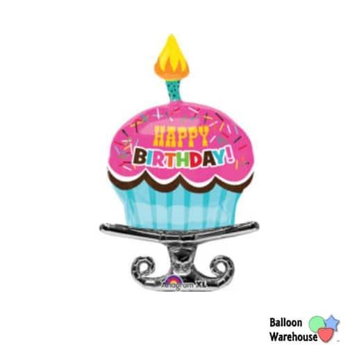 birthday sprinkle cupcake 37in mylar balloon