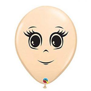 "Qualatex 5"" Feminine Face Latex Balloons"