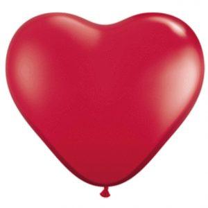 "6"" Qualatex Heart Latex - Ruby Red"