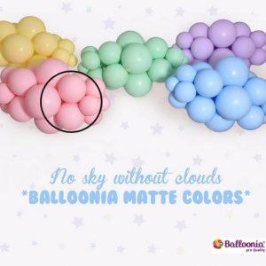 Matte Baby Pink Balloonia Latex Balloons