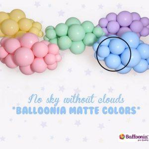 Matte Blue Balloonia Latex Balloons