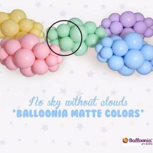 Matte Green Balloonia Latex Balloons