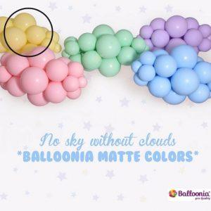 Matte Yellow Balloonia Latex Balloons