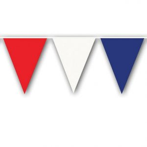 Beistle Red/White/Blue Pennant Banner