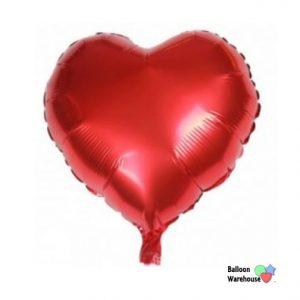 "10"" Red Heart Balloon"