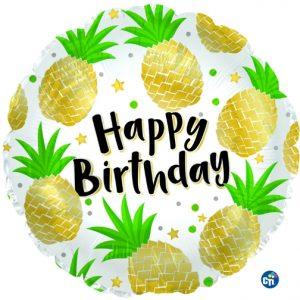 "18"" Birthday Pineapples Foil Balloon"