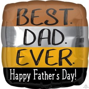 """18"""" Happy Father's Day Best Dad Ever"""