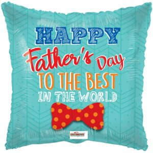 """17"""" Happy Father's Day To The Best Foil Balloon"""