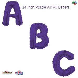 14 In. Purple Letters Air Fill