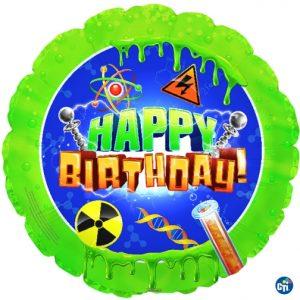 "18"" Mad Scientist Happy Birthday Foil Balloon"