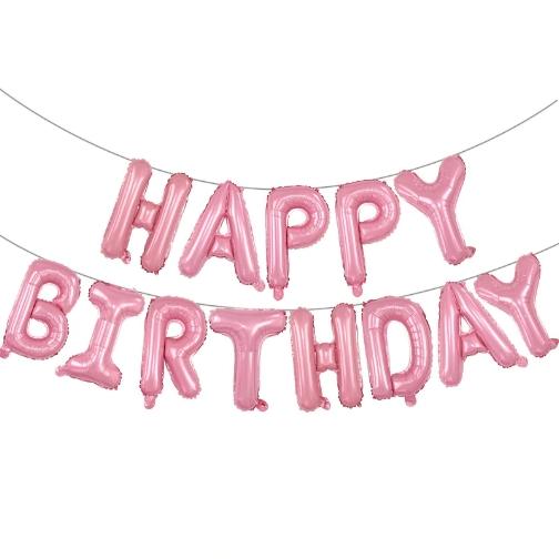 Pastel Pink Anagram International Curve Flat Foil Balloon 19