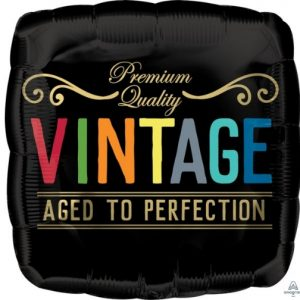 """17"""" Vintage Birthday Aged tp Perfection"""