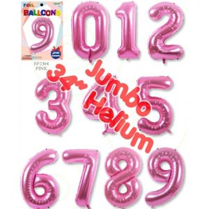 34 Inch Pink Number Balloons