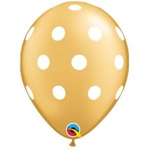 "11"" Big Polka Dots Latex - Gold"