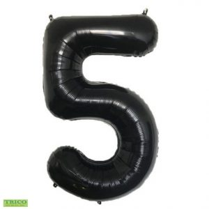 "34"" Black Number Balloon"